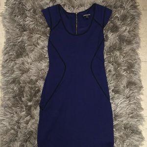 Express navy blue body con dress